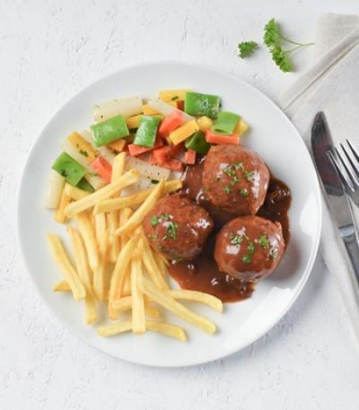Boulettes liégeoises lunch garden rocourt