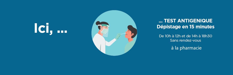test antigéniques sans rendes-vous Shop'in Publier