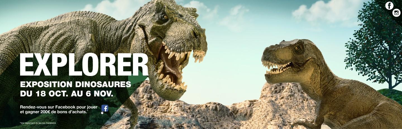 Du 18 octobre au 6 novembre, venez découvrir une exposition spectaculaire des plus beaux et des plus grands dinosaures.