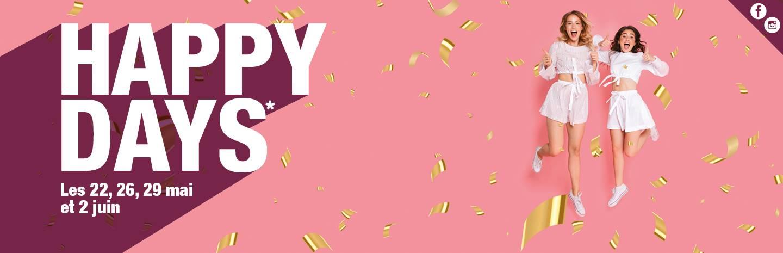 Pour l'occasion, venez tenter votre chance aux Happy Days* !