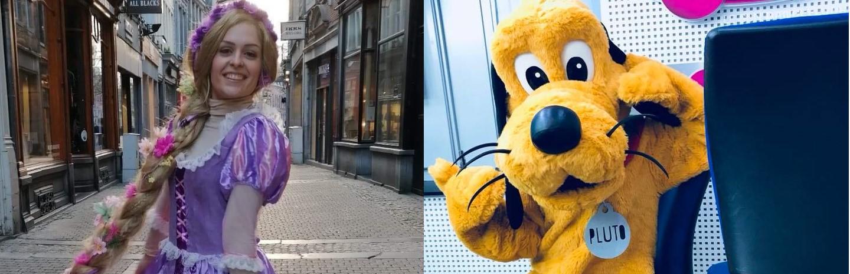 Les mascottes - Raiponce et Pluto